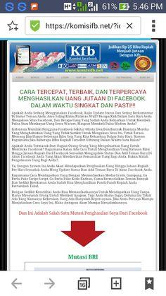 CARA CEPAT DAPAT UANG DARI FACEBOOK: <H 18 >CARA CEPAT DAPAT UANG DARI INTERNET/faceboo...