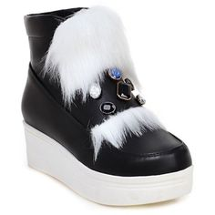 GET $50 NOW | Join RoseGal: Get YOUR $50 NOW!http://www.rosegal.com/boots/rhinestone-faux-fur-platform-ankle-945876.html?seid=2275071rg945876
