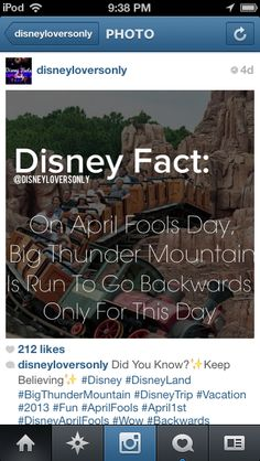 Disney fact-officially on my bucket list:go to Disney on April That would be the best birthday present! Disneyland Secrets, Disney Secrets, Disney Tips, Disney Memes, Disney Magic, Disney Trivia, Disney Planning, Disney Quotes, Disney Dream