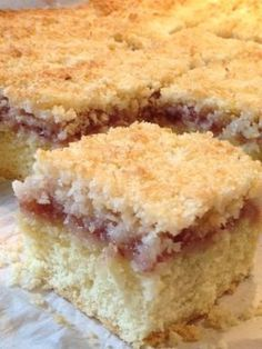 CWA Coconut & Jam slice ( scroll down page for recipe) Coconut Recipes, Baking Recipes, Cake Recipes, Dessert Recipes, Coconut Jam, Coconut Slice, Cranberry Dessert, Australian Food, Australian Recipes