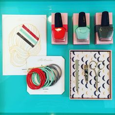 It's never too early to start thinking about stocking stuffers! Here are some of our faves for the gals on your list! Hair accessories  nail polish  manicure set. What girl wouldn't love these in her stocking?! #tfssi #stsimons #seaisland #shopgoldenisles #christmas2015 #stockingstuffers #greatgift