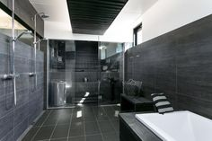 Sisustus  - Kylpyhuone - Moderni Saunas, Dream Rooms, Helsinki, Toilet, Interior Decorating, New Homes, Bathtub, Shower, Design