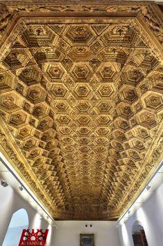 Artesonado del salón principal del Palacio Ducal de Pastrana. © Albanécar