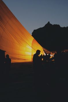 Free stock photo of night, adventure, hot-air balloon, glow