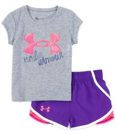 Script Logo, Skin Tight, Ua, Dillards, Under Armour, Little Girls, Latest Trends, Short Sleeves