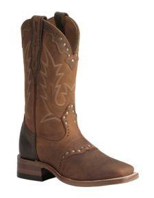 Boulet Buffalo Honey Cowgirl Boots - Square Toe
