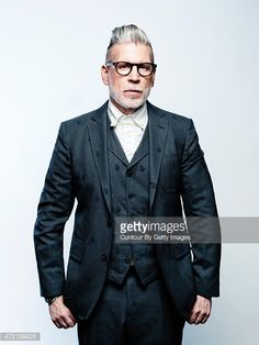 Fashion designer Nick Wooster is photographed for August Man on March 20, 2015 in New York City. PUBLISHED IMAGE.