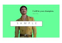 """Oberyn Martell """" I will be your champion."""" by gameofthronespopart on Etsy"""