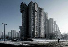 Block 61(Officer blocks or Panonian Sailboats), Belgrade, Republic of Serbia, built between 1971-73. Architects Darko Marusic, Milenija Marusic and Milan Miodragovic © BACU #_BA_CU