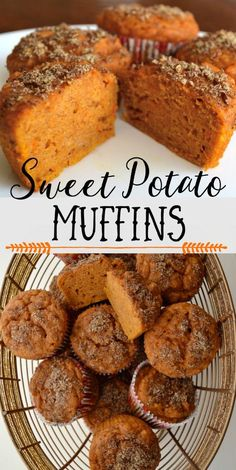 Healthy Snacks These sweet potato muffins are super moist, yummy, and nutritious! You can feel good about feeding them to your family for breakfast or for a healthy snack. via - Nutrient-packed sweet potato muffins that are super moist and delicious! Baby Food Recipes, Gourmet Recipes, Baking Recipes, Canned Sweet Potato Recipes, Easy Recipes, Dinner Recipes, Dinner Ideas, Sweet Potato Toddler Recipes, Sweat Potato Recipes