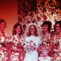 The drapes match the dresses!! What were they thinking!