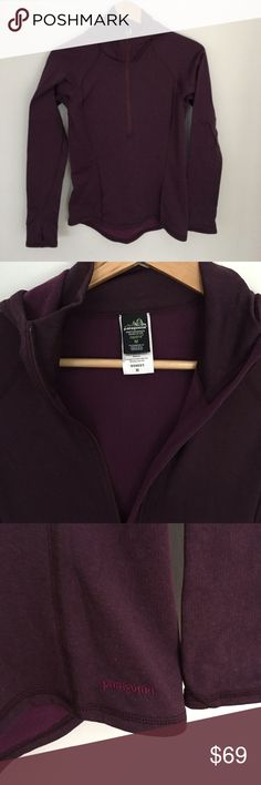 """Patagonia Performance Baselayer with hood Patagonia is known for their high performance baselayers in """"capilene"""" waffle fabric. Hooded style with thumb holes so sleeves don't budge. Excellent condition- worn once. Patagonia Tops Sweatshirts & Hoodies"""