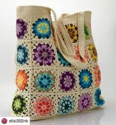 Crochet Purses, Crochet Bags, Granny Square Bag, Eminem, Burlap, Reusable Tote Bags, Instagram, Granddaughters, Bags
