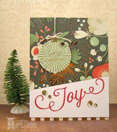 Jen Carter, Christmas Joy, Glory to Newborn King, ornament, Lil' Inker Designs, LID, card
