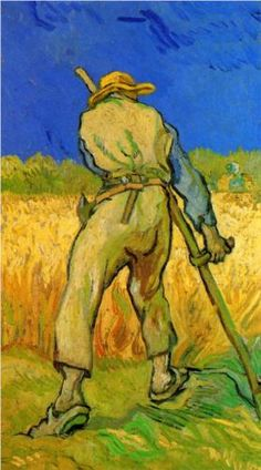 The Reaper after Millet Completion Date: 1889 Place of Creation: Saint-rémy-de-provence, France Style: Post-Impressionism Genre: genre painting Technique: oil Material: canvas Dimensions: 25 x 43.5 cm Gallery: Memorial Art Gallery of the University of Rochester, United States