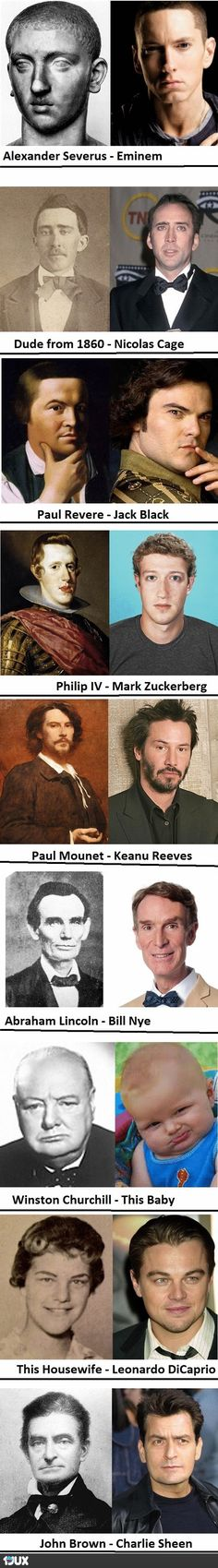 Some awesome historical Dopplegangers of Today's Celebrities