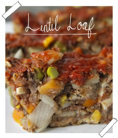 Lentil Loaf 30 Delicious Vegan Meals You Can Make In Under 30 Minutes Lentil Recipes, Vegan Recipes Easy, Veggie Recipes, Whole Food Recipes, Vegetarian Recipes, Cooking Recipes, Vegan Foods, Vegan Dishes, Vegan Meals