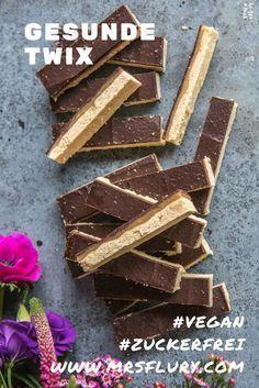 Make Twix bars yourself - healthy, vegan & gluten-free - Mrs .- Twix Riegel selber machen – gesund, vegan & glutenfrei – Mrs Flury Healthy Twix vegan and without white sugar free bake - Vegan Sweets, Healthy Sweets, Healthy Snacks, Easy Snacks, Keto Snacks, Dessert Sans Gluten, Twix Bar, Desserts Sains, Menu Dieta