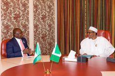 EkpoEsito.Com : Buhari receives Lagos Gov. Ambode in Abuja