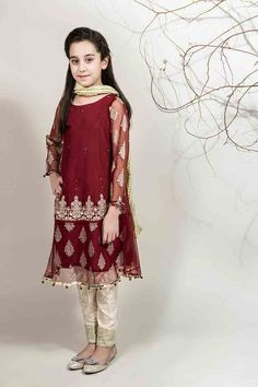 9cc4b947f0b1 Maria B Fancy Kids Dresses Designs 2018-19 Collection for Girls ...