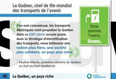 Le Québec, chef de file mondial des transports de l'avenir. #PaysQc