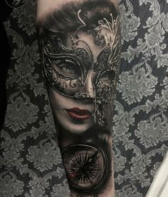 5fab3aba8ca20 30 creative examples of Venetian mask tattoos put together for your  inspiration. Enjoy! Venetian