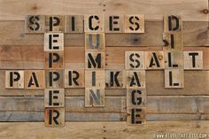 Spices and Seasonings Pallet Art Word Collage Large by ReUseItArt, $25.00