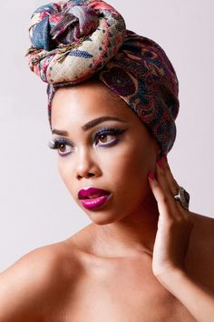 Fascinating scarf protective style