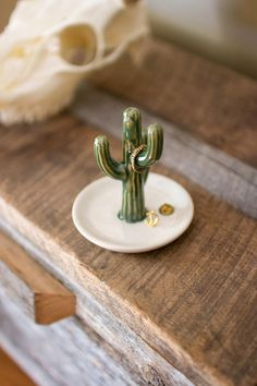 ceramic cactus ring holder from At West End-pefect for Skye