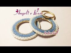 DIY - Circles Soutache with metal ring sewn - easy - YouTube