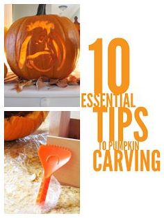 10 Essential Pumpkin Carving Tips and Tricks. Such great tips on making carving a pumpkin a lot easier. I never knew that there were techniques for making the carving process go a lot smoother. Pin this now and use on Halloween.