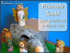 printable tomb craft- attach to tissue box
