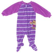 Purple Striped Teddy Bear Blanket Sleeper for Girls $9.99