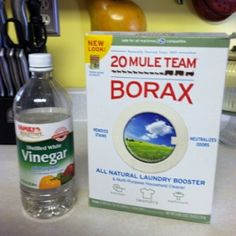 Grout cleaner Make a paste from in a plastic bowl or small bucket or other plastic container from borax and pour enough plain white vinegar into the borax to make a stiff paste. Use a toothbrush or other small, stiff brush, into the borax and vinegar paste and use to brush or scrub tile grout. Rinse well with warm water on a cloth or sponge. (not for marble!)