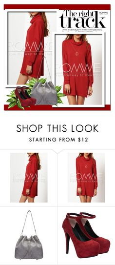 """""""Red and grey combination"""" by clumsy-dreamer ❤ liked on Polyvore"""