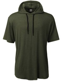 This lightweight hipster short sleeve hoodie shirt will make any outfit stand out. Made of a super soft and stretchy material for comfort, this shirt features a longline length for a laid back but sty