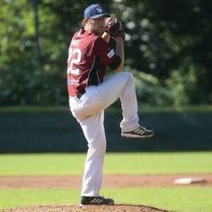 Jeff Barto pitching at Finkstonball 2014. - 2014 Feldkirch Cardinals, Austria