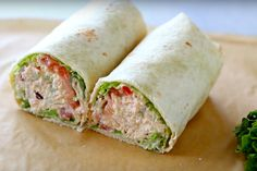 Recipe: contemporary wraps with tuna salad Lunch Snacks, Clean Eating Snacks, Easy Healthy Recipes, Easy Meals, Pita Wrap, Good Food, Yummy Food, Brunch, High Tea