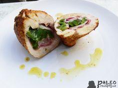 Kuřecí kapsa plněná šunkou, ředkvičkami a restovanou paprikou - Powered by @ultimaterecipe