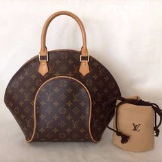 Louis Vuitton Ellipse Mm Pre Owned Brown Bag - Satchel  870 Borse Louis  Vuitton b7f8906e98e