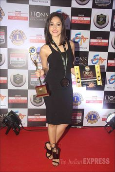 Nushrat Bharucha at the 22nd Lions Gold Awards. #Bollywood #Fashion #Style #Beauty #Hot