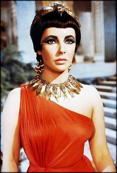 Elizabeth Taylor costume and make-up test from Cleopatra deleted scene