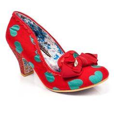 Irregular Choice - Kanjanka Red and Blue Comfy Wedding Shoes, Green Wedding Shoes, Retro Wedding Inspiration, Foot Powder, Next Shoes, Women's Shoes, Irregular Choice, Bridal Shoes, Beautiful Shoes