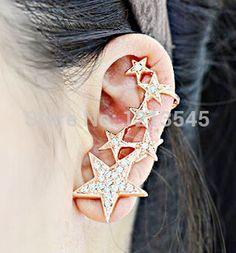 Korean Star ear cuff earrings fashion female hypoallergenic High quality  cute ear clip earring free shipping YS-C-C8