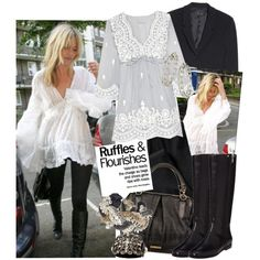 """""""Ruffles & Flourishes Feat. Kate Moss"""" by sourcat on Polyvore"""