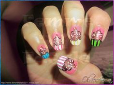 CHOCOLATE-CUPCAKE - Nail Art Gallery by NAILS Magazine
