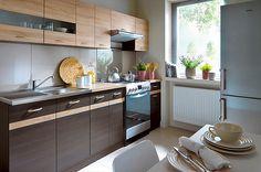 http://gerbor.kiev.ua/polskaya-mebel-brw/mebel-junona-line-brw/kuhnya-junona-brw-venge/ Мебель для кухни Junona Line BRW венге – стильная модульная мебель от польской фабрики Black Red White для обустройства кухни. Изготавливается в цвете: корпус – венге; фасад нижних тумбочек – венге со вставками дуб сонома; фасад верхних шкафчиков – дуб сонома.