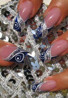 Nail art by AbigailRichard – Nail Art Gallery nailartgallery.na… by Nails Maga… Nail art by AbigailRichard – Nail Art Gallery Great Nails, Fabulous Nails, Gorgeous Nails, Beautiful Nail Designs, Beautiful Nail Art, Nice Designs, Simply Beautiful, Fancy Nails, Trendy Nails