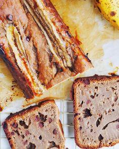 Banana Bread aux pépites de chocolat, vegan et sans gluten - Lily tasty