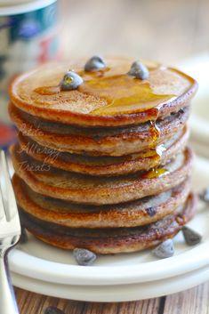 Gluten Free Chocolate Chip Pancakes-BEST pancake EVER gluten free, vegan, dairy free, egg free
